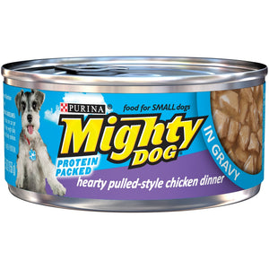 Purina Mighty Dog Hearty Pulled Style Chicken Canned Dog Food