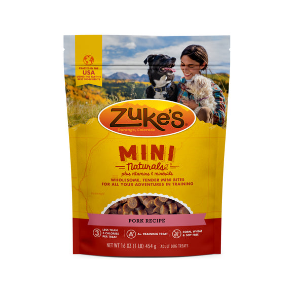 Zukes Roasted Pork Mini Naturals Dog Treats
