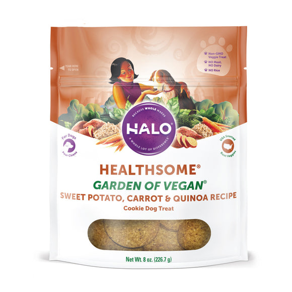 Halo Healthsome Garden Of Vegan Sweet Potato, Carrot & Quinoa Grain Free Dog Treats