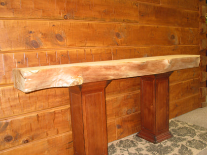 Log - Live Edge Fireplace Mantel