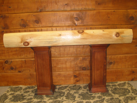 Log Round Face Fireplace Mantel