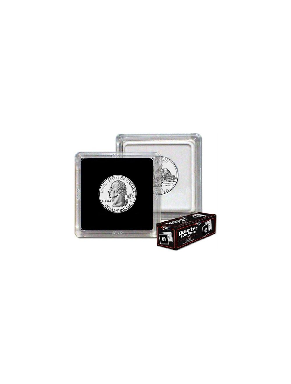 2x2 Coin Snap - Quarter - Black