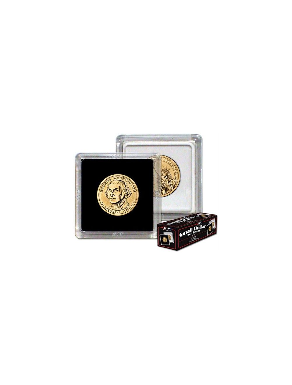 2x2 Coin Snap - Small Dollar - Black