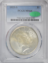 Load image into Gallery viewer, 1923-S Peace Dollar PCGS MS 64 CAC