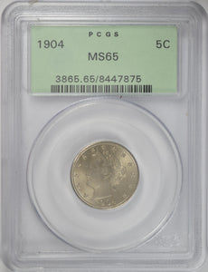 1904 5C Liberty Nickel PCGS MS 65