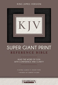 KJV Super Giant Print Reference Bible-Black Imitation Leather