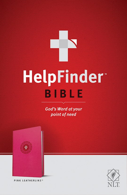 NLT Helpfinder Bible-Pink Leather Like God's Word At Your Point Of Need