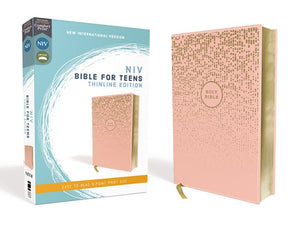 NIV Thinline Bible For Teens (Comfort Print)-Pink Leathersoft