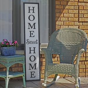 "Home Sweet Home - Metal Sign (12""x58"")"