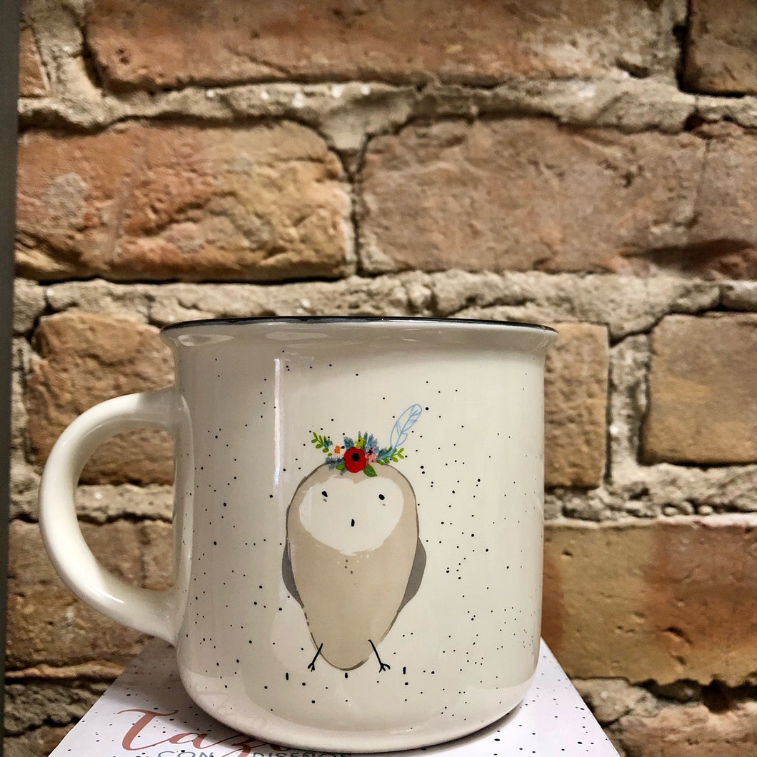 Owl - Feather- Mug