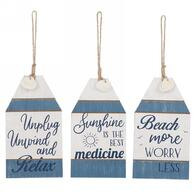 Assorted Blue & White Tags