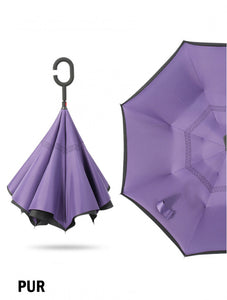 Double Layer Inverted Umbrellas W/ C-Shaped Handle