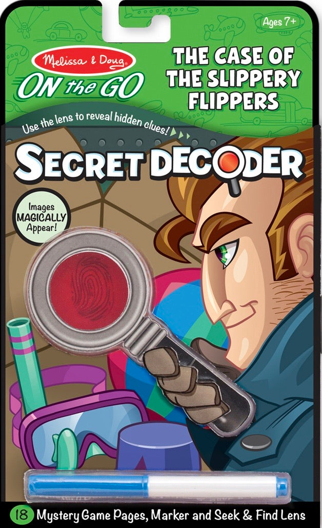 Melissa & Doug - Secret Decoder-Case of the Slippery Flippers