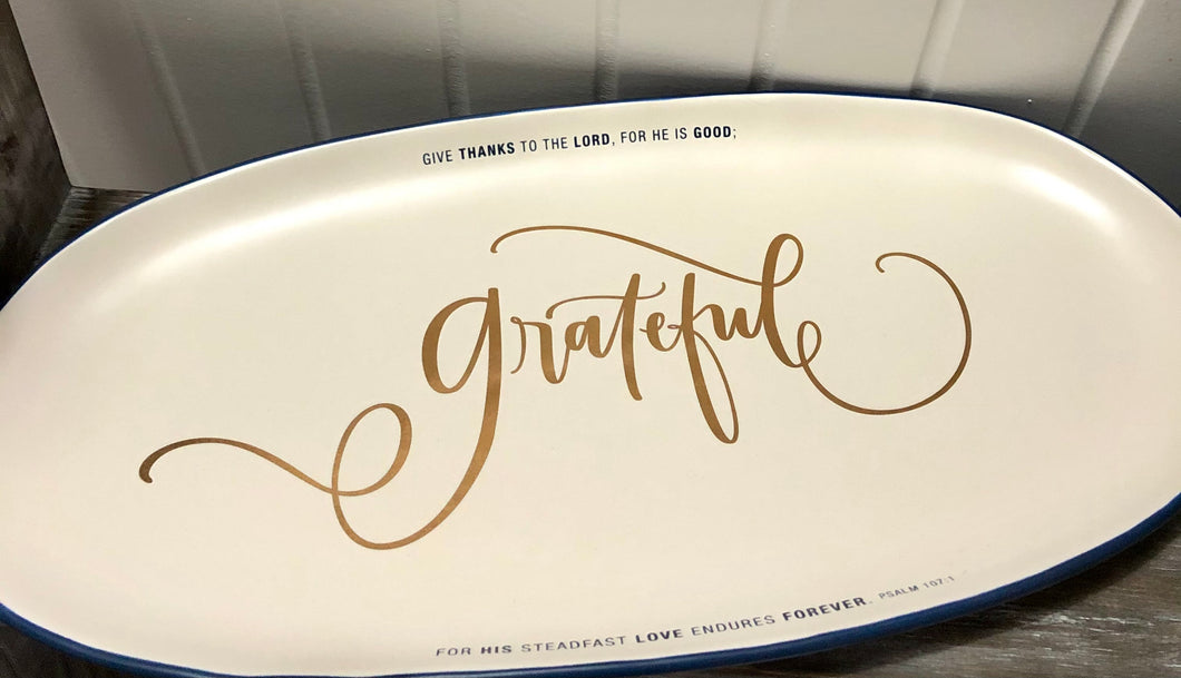 """Grateful"" Small Serving Tray - Candace Cameron Bure Collection"