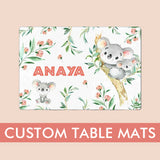 personalizes table mats for kids