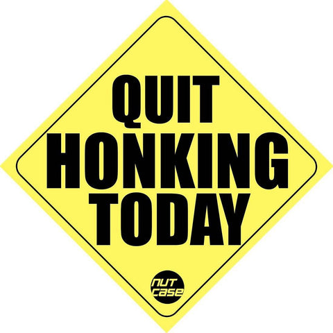 Automobile Car Bumper Sticker - Quit Honking Today