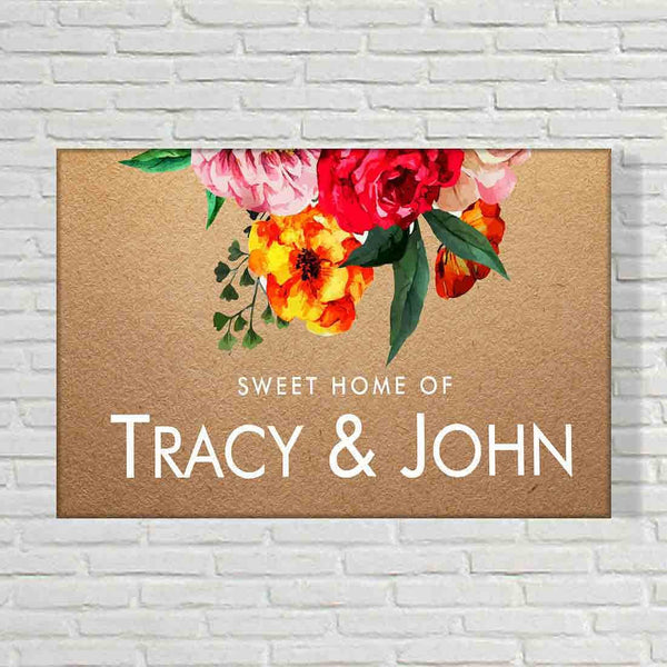 Floral Name Plate Door Signs