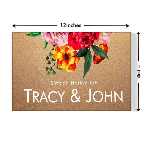 Floral name plate designs for home