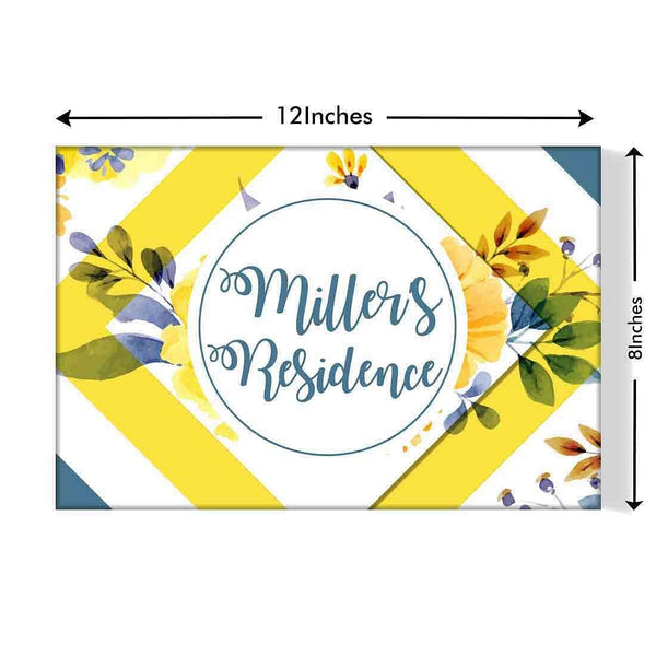 Customized Outdoor Name plate online