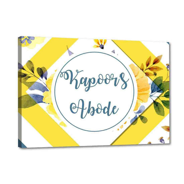 Custom Name Plate Door Signs -Yellow Spring