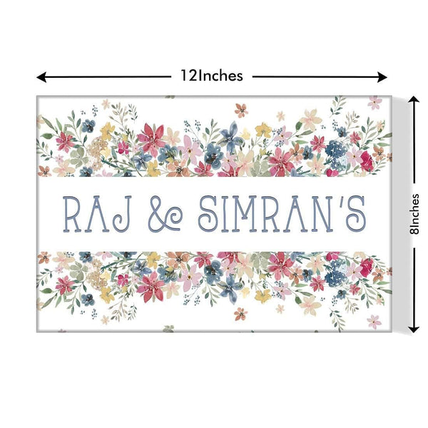 Designer nameplates for couples housewarming gifts idea online