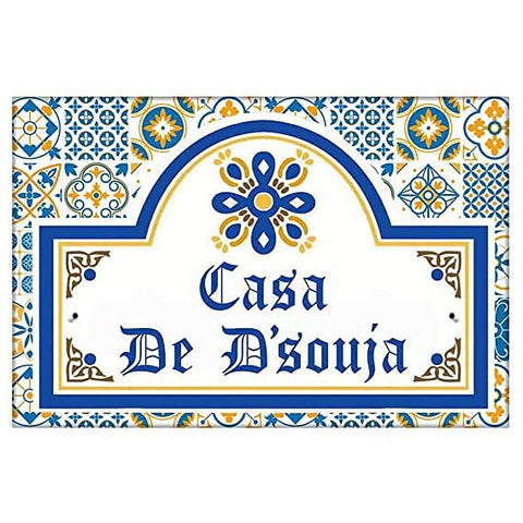 Buy Nameplate For Home Outdoor Spanish Villa