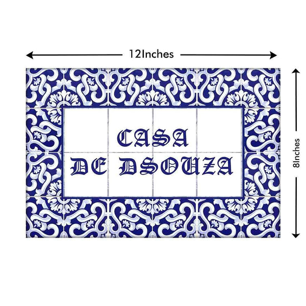 Buy customised name plate Portuguese designs