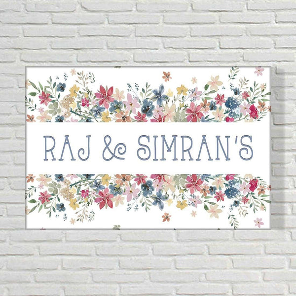 Buy Floral name plate for home Online India