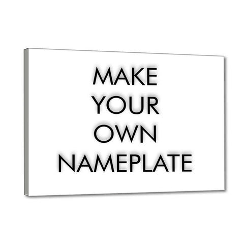 Make Your Own Name Plate Office Sign Board - Create Your Own Nameplate