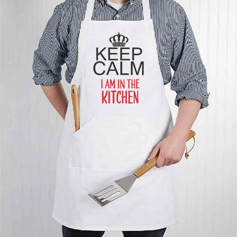 Apron For Kitchen for Men Baking Cooking - Keep Calm
