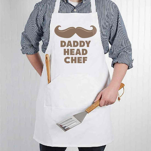 Apron For Kitchen for Dad  Fathers Day Gift Baking Cooking - Daddy Head Chef