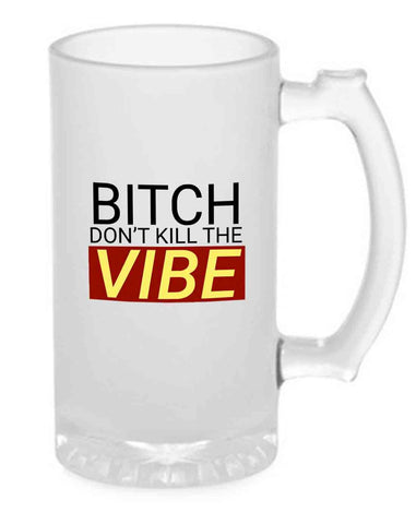 Beer Mug Glass  16 Oz - Vibe
