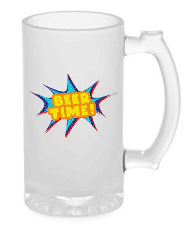 Beer Mug Glass  16 Oz - Beer Time