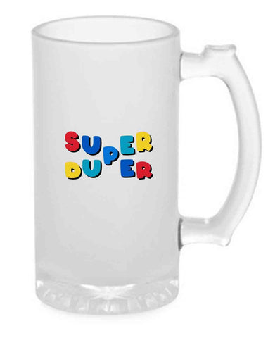 Beer Mug Glass  16 Oz - Super Duper