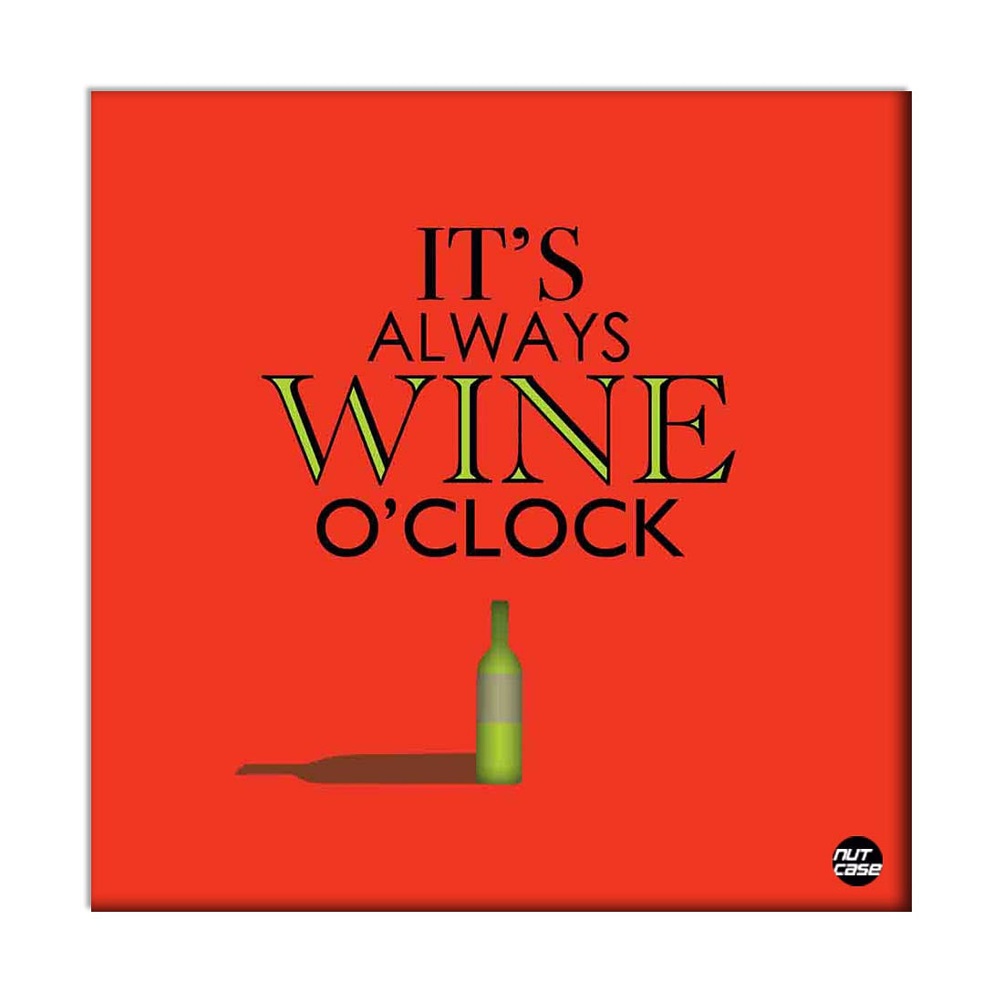 Wall Art Panels For Home Decor - Its Wine O'Clock Red