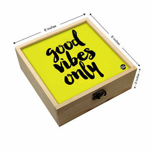 Jewellery Box Wooden Jewelry Organizer -  Good Vibes Only