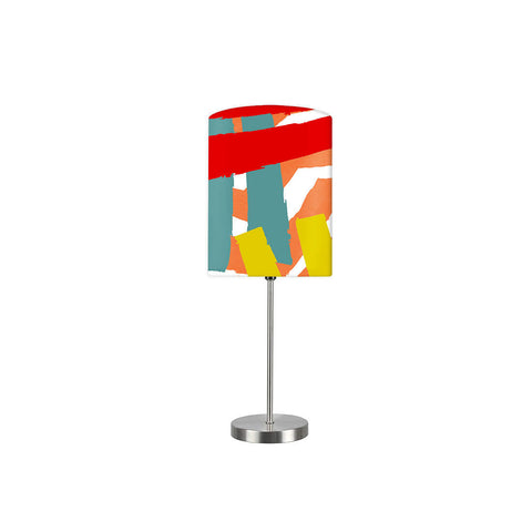 Kids Room Night Lamp - Red And Orange Pattern