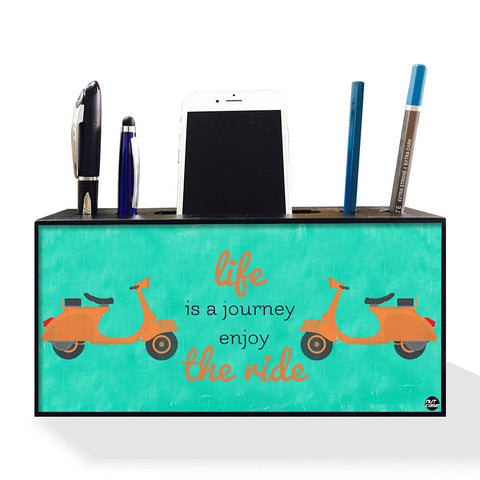 Pen Mobile Stand Holder Desk Organizer - Life Is A Journey