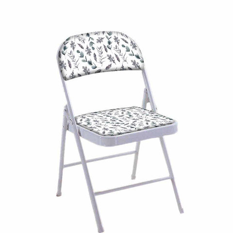 Folding Chair For Living Room Balcony Terrace  - Grey Leaf