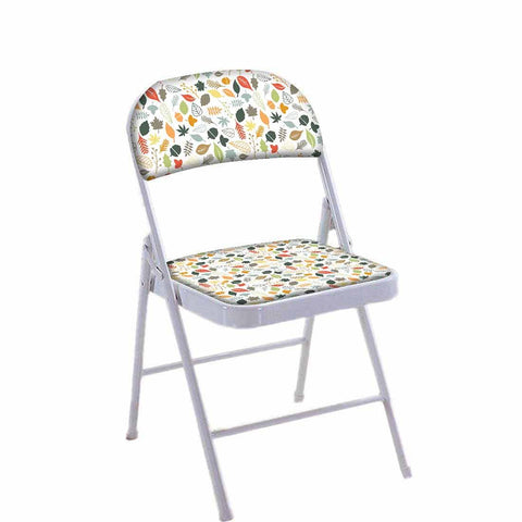 Folding Chair For Living Room Balcony Terrace  - Multi Color Leaf