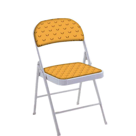 Folding Chair For Living Room Balcony Terrace  - Rust Color Minimal