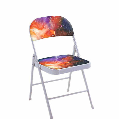 Folding Chair For Living Room Balcony Terrace  - Space Multi Watercolor