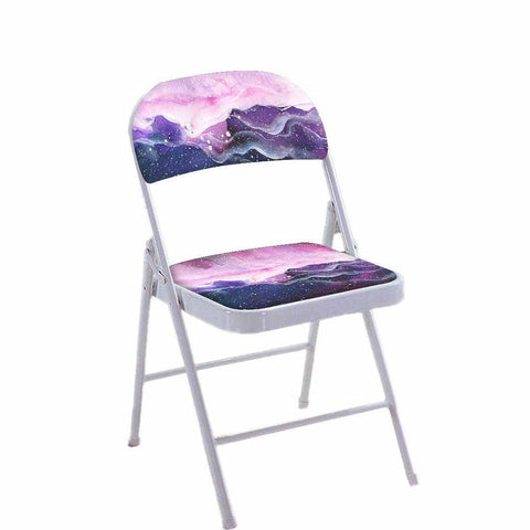 Folding Chair For Living Room Balcony Terrace -  Space Colorful Watercolor