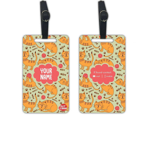 Custom Luggage Tag Kids Add your Name - Set of 2 - Nutcase