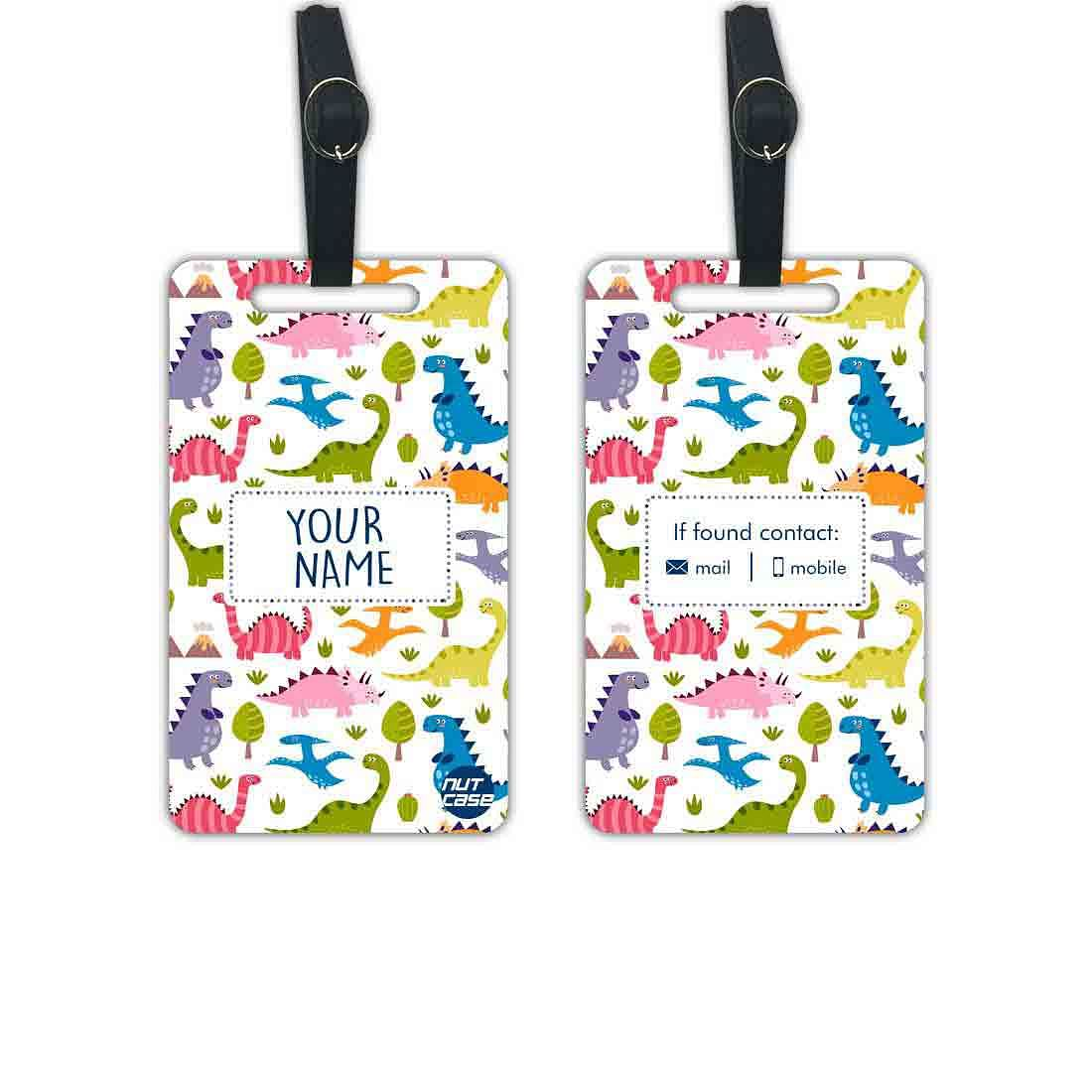 Custom Bag Luggage Tags for Kids - Add your Name - Set of 2
