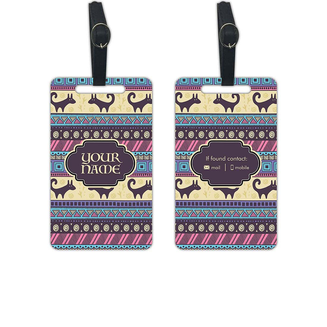 Personalised Unique Luggage Tag - Add your Name - Set of 2