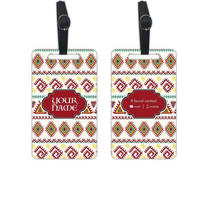 Customised Name Luggage Tags Add Your Name - Set of 2 - Nutcase