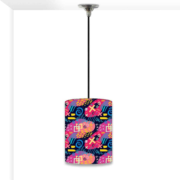 Ceiling Hanging Pendant Lamp Shade - Colorful Trendy Pattern