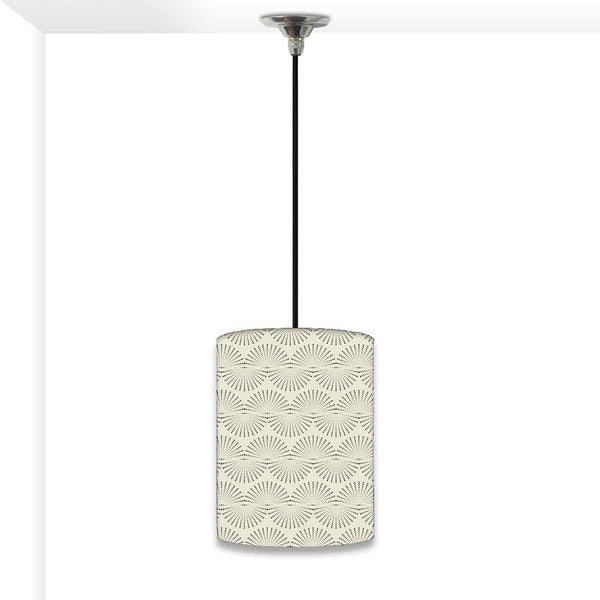 Ceiling Hanging Pendant Lamp Shade - Grey Retro Pattern