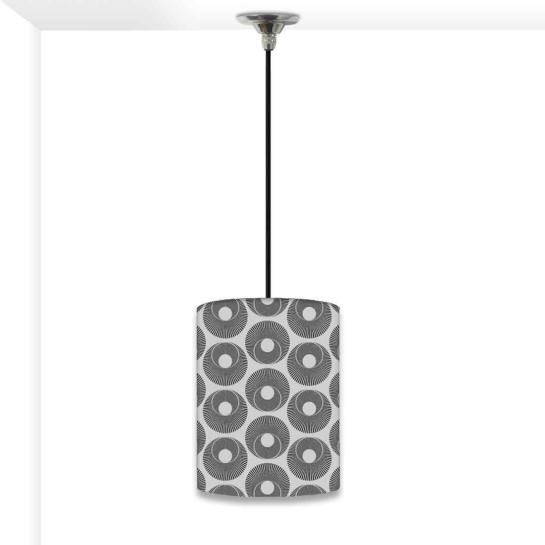 Ceiling Hanging Pendant Lamp Shade - Grey Retro Art